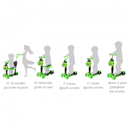 Trotineta evolutiva Scooter 5 in 1 pentru copii (4 culori disponibile)3