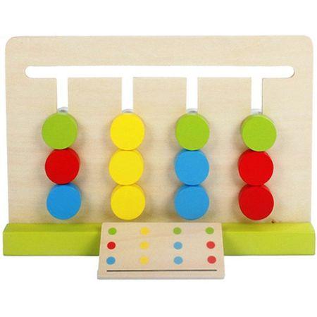 Joc Montessori Din Lemn Labirint Asociază Culorile4