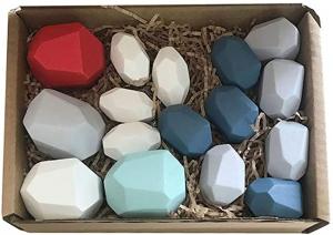 Pietre in echilibru - Joc stivuire din lemn, 22 piese [1]