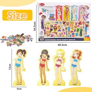 Puzzle educativ - Imbraca fetitele5