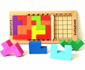 Joc logic Katamino din lemn [1]