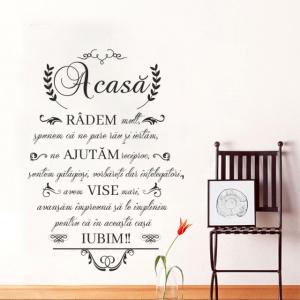"Sticker decorativ ""Acasa radem mult""0"