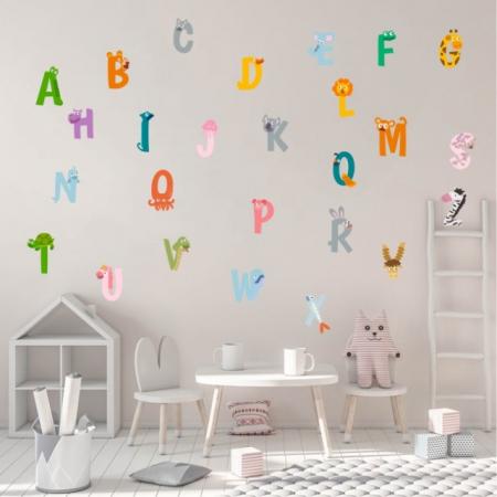 Sticker decorativ pentru camera copilului - ALFABETUL1