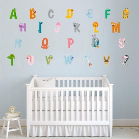 Sticker decorativ pentru camera copilului - ALFABETUL0