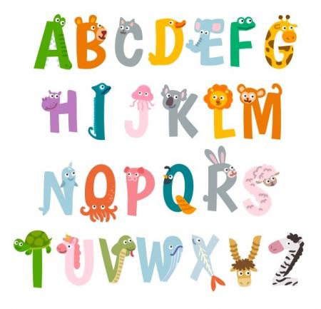 Sticker decorativ pentru camera copilului - ALFABETUL2