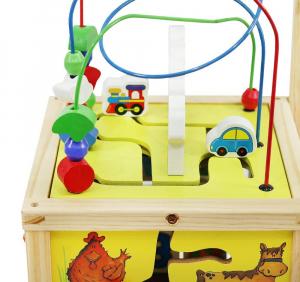 Cub educativ 6 in 1- antepremergator lemn cu activitati [4]