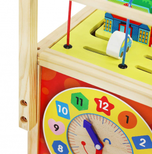 Cub educativ 6 in 1- antepremergator lemn cu activitati [5]