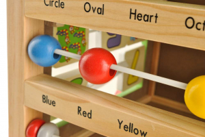 Cub educativ 6 in 1- antepremergator lemn cu activitati [6]