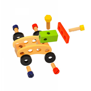 Banc de lucru - set trusa de scule din lemn cu accesorii pentru copii3