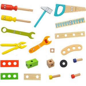 Banc de lucru - set trusa de scule din lemn cu accesorii pentru copii2
