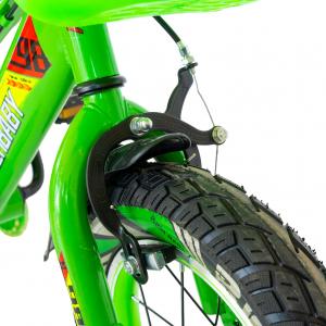 "Bicicleta baieti Rich Baby R1407A, roata 14"", C-Brake, roti ajutatoare cu LED, 3-5 ani, verde/alb 5"