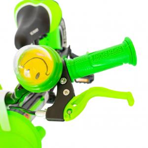 """Bicicleta baieti Rich Baby R1407A, roata 14"""", C-Brake, roti ajutatoare cu LED, 3-5 ani, negru/verde2"""