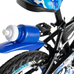 "Bicicleta baieti RICH BABY R14WTA, roata 14"", roti ajutatoare cu LED, 3-5 ani, culoare negru/albastru2"