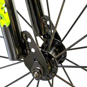 "Bicicleta baieti  RICH BABY R14WTA, roata 14"", roti ajutatoare cu LED, 3-5 ani, culoare negru/verde7"