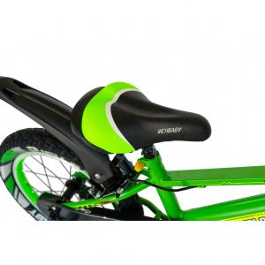 """Bicicleta baieti Rich Baby R1807A, roata 18"""", C-Brake otel, roti ajutatoare cu LED, 5-7 ani, verde/negru5"""