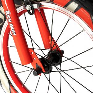 "Bicicleta baieti RICH BABY R16WTB, roata 16"", roti ajutatoare, 4-6 ani, culoare negru/rosu4"