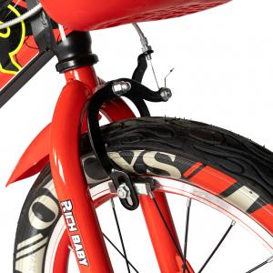 "Bicicleta baieti RICH BABY R16WTB, roata 16"", roti ajutatoare, 4-6 ani, culoare negru/rosu5"