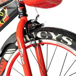 """Bicicleta baieti RICH BABY R20WTB, roata 20"""", 7-10 ani, culoare negru/rosu5"""