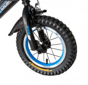 "Bicicleta baieti Rich Baby T1202C, roata 12"", C-Brake, roti ajutatoare, 2-4 ani, negru/albastru [7]"