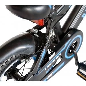 "Bicicleta baieti Rich Baby T1202C, roata 12"", C-Brake, roti ajutatoare, 2-4 ani, negru/albastru [4]"
