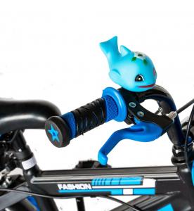"Bicicleta baieti Rich Baby T1202C, roata 12"", C-Brake, roti ajutatoare, 2-4 ani, negru/albastru [11]"