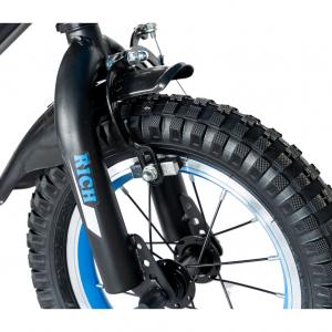 "Bicicleta baieti Rich Baby T1202C, roata 12"", C-Brake, roti ajutatoare, 2-4 ani, negru/albastru [8]"