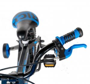 "Bicicleta baieti Rich Baby T1202C, roata 12"", C-Brake, roti ajutatoare, 2-4 ani, negru/albastru [10]"