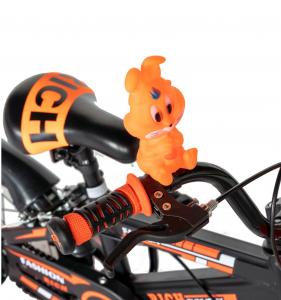 "Bicicleta baieti Rich Baby T1202C, roata 12"", C-Brake, roti ajutatoare, 2-4 ani, negru/portocaliu [10]"
