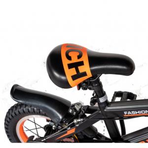 "Bicicleta baieti Rich Baby T1202C, roata 12"", C-Brake, roti ajutatoare, 2-4 ani, negru/portocaliu [1]"