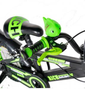 "Bicicleta baieti Rich Baby T1202C, roata 12"", C-Brake, roti ajutatoare, 2-4 ani, negru/verde [8]"