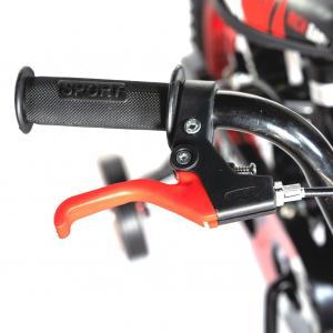 "Bicicleta baieti Rich Baby T1204C, roata 12"", C-Brake,  roti ajutatoare, 2-4 ani, negru/rosu7"