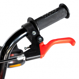 "Bicicleta baieti Rich Baby T1204C, roata 12"", C-Brake,  roti ajutatoare, 2-4 ani, negru/rosu8"