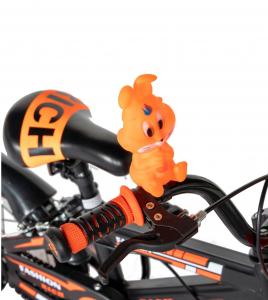 "Bicicleta baieti Rich Baby T1602C, roata 16"", C-Brake, roti ajutatoare, 4-6 ani, negru/portocaliu [8]"