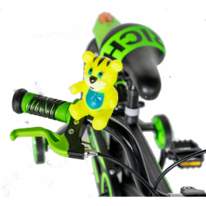 "Bicicleta baieti Rich Baby T1602C, roata 16"", C-Brake, roti ajutatoare, 4-6 ani, negru/verde [8]"