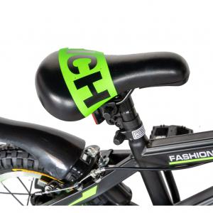 "Bicicleta baieti Rich Baby T1602C, roata 16"", C-Brake, roti ajutatoare, 4-6 ani, negru/verde [4]"