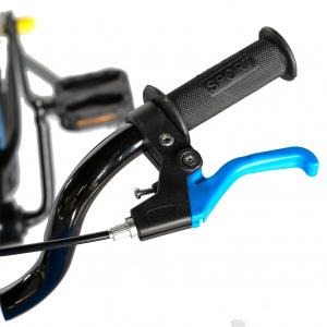 "Bicicleta baieti Rich Baby T1604C, roata 16"", C-Brake,  roti ajutatoare, 4-6 ani, negru/albastru [7]"