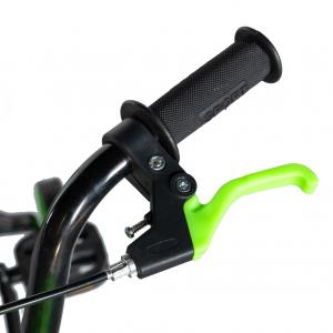 "Bicicleta baieti Rich Baby T1604C, roata 16"", C-Brake,  roti ajutatoare, 4-6 ani, negru/verde [7]"