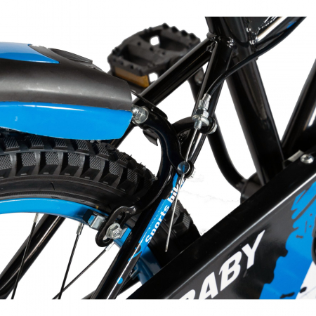 Bicicleta Baieti 7-10 Ani, Roti 20 Inch, Frane C-Brake, Rich Baby CST20/04C, Cadru Negru cu Design Albastru [1]