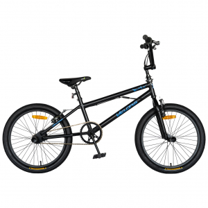 """Bicicleta BMX 20"""" VELORS V2016A, culoare negru/albastru [0]"""
