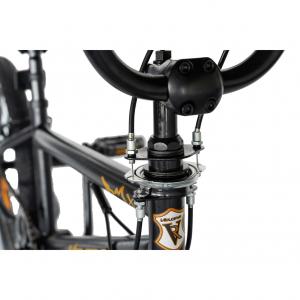 """Bicicleta BMX 20"""" VELORS V2016A, culoare negru/portocaliu7"""