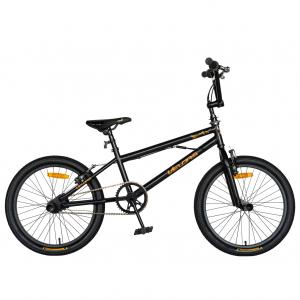 """Bicicleta BMX 20"""" VELORS V2016A, culoare negru/portocaliu0"""