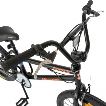 Bicicleta BMX, Roti 20 Inch, Frane V-Brake, Velors Rocker CSV20/16A, Cadru Negru cu Design Portocaliu [2]