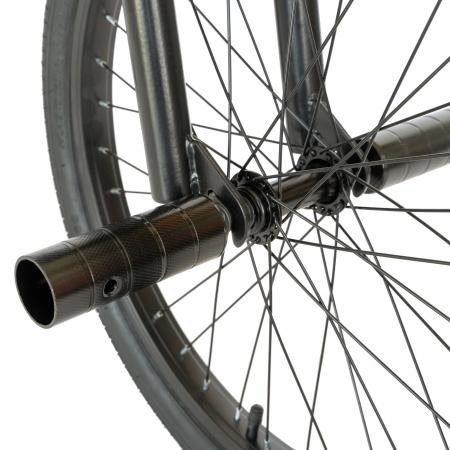 Bicicleta BMX, Roti 20 Inch, Frane V-Brake, Velors Rocker CSV20/16A, Cadru Negru cu Design Portocaliu [5]