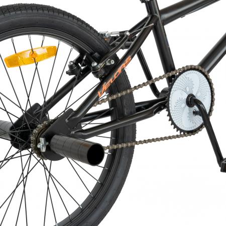 Bicicleta BMX, Roti 20 Inch, Frane V-Brake, Velors Rocker CSV20/16A, Cadru Negru cu Design Portocaliu [8]