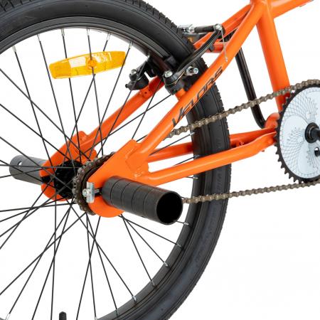 Bicicleta BMX, Roti 20 Inch, Frane V-Brake, Velors Rocker CSV20/16A, Cadru Portocaliu cu Design Negru [7]