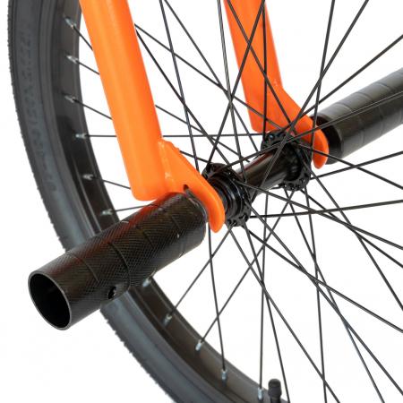 Bicicleta BMX, Roti 20 Inch, Frane V-Brake, Velors Rocker CSV20/16A, Cadru Portocaliu cu Design Negru [8]