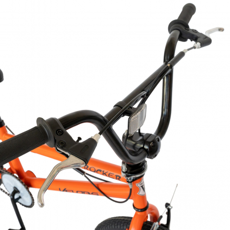 Bicicleta BMX, Roti 20 Inch, Frane V-Brake, Velors Rocker CSV20/16A, Cadru Portocaliu cu Design Negru [4]