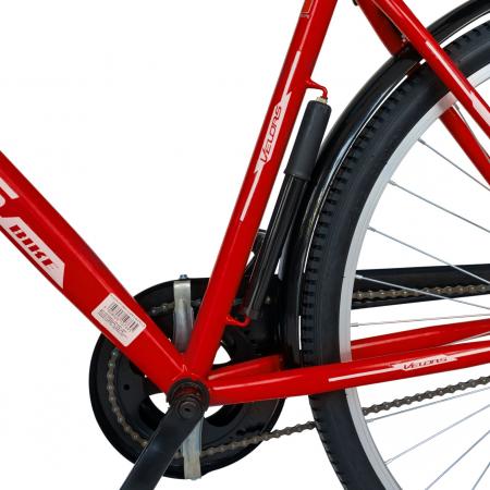 Bicicleta City Roti 28 Inch, Frane Mecanice V-Brake, Velors Ukrayna CSV28/93A, Cadru Rosu cu Design Alb [4]