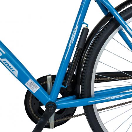 Bicicleta City Roti 28 Inch, Frane Mecanice V-Brake, Velors Ukrayna CSV28/93A, Cadru Albastru cu Design Alb [2]