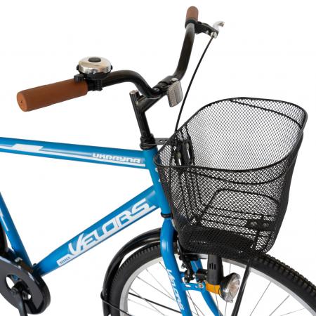 Bicicleta City Roti 28 Inch, Frane Mecanice V-Brake, Velors Ukrayna CSV28/93A, Cadru Albastru cu Design Alb [5]